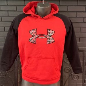 Under Armour Red Black Hoodie Youth Large
